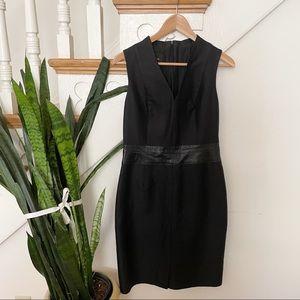 AKRIS cotton silk black sleeveless mini dress sz 6